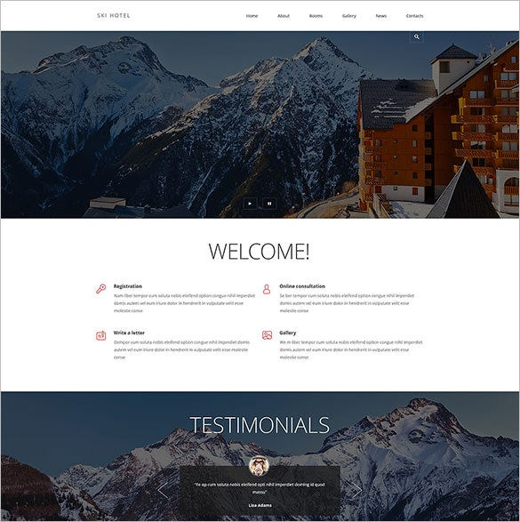 beautiful responsive hotels joomla template