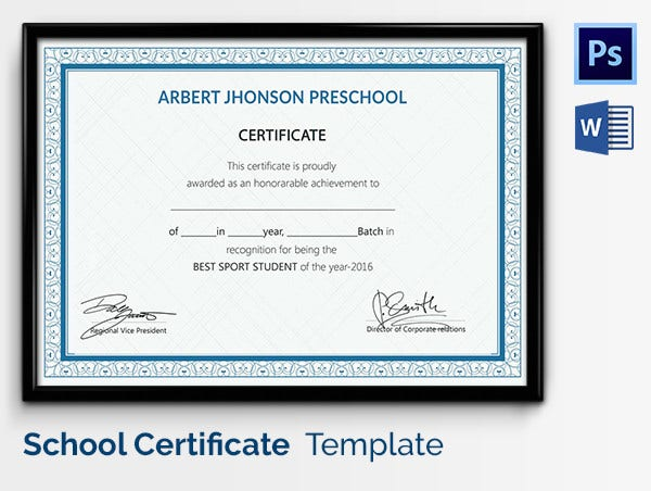 Participate Award Template for Students
