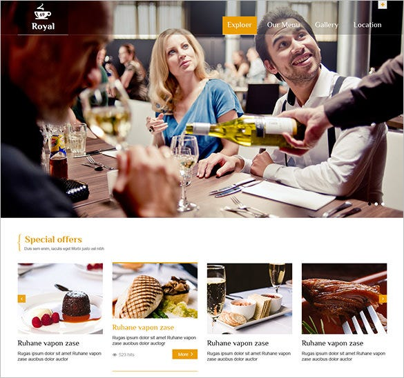 eye catching lazy load restaurant hotel template