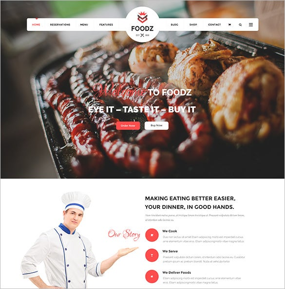 perfect restaurant joomla template for food business
