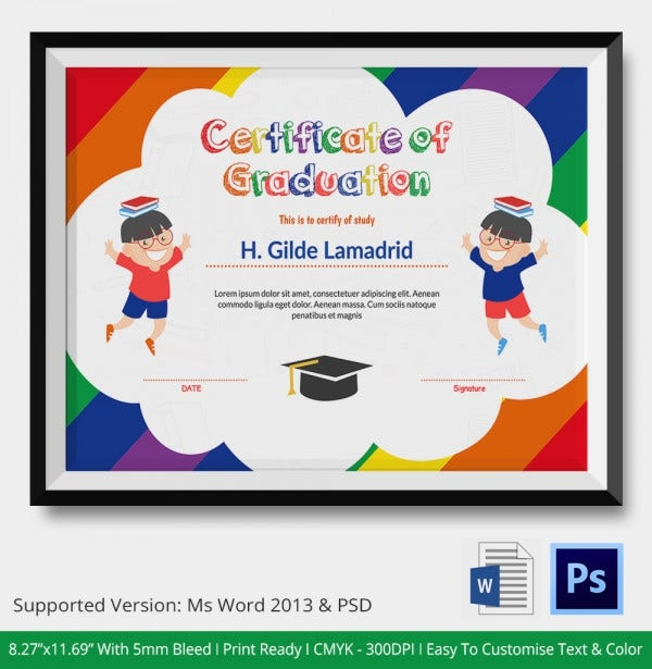 11+ Graduation Certificate Templates - Word, Pdf Documents