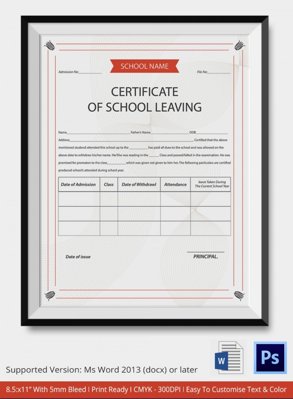 Certificate of School Leaving