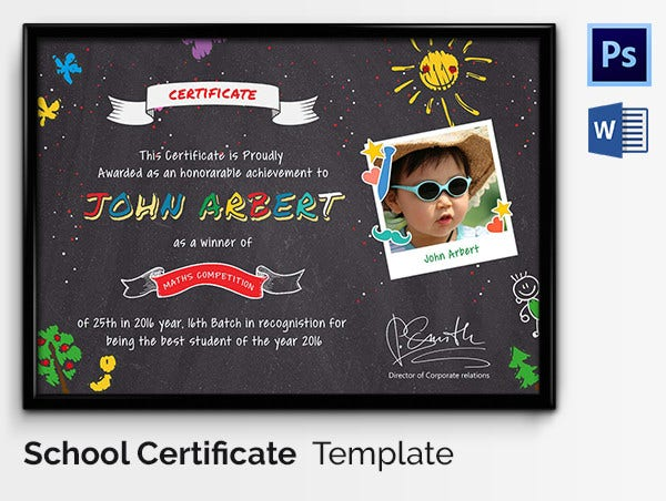 Sports Certificate for Kids with Photo
