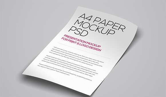 3 floating a4 paper mockup psd template