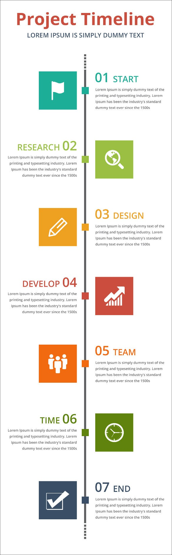 Project Timeline Templates Free Sample Example Format - Timeline design template