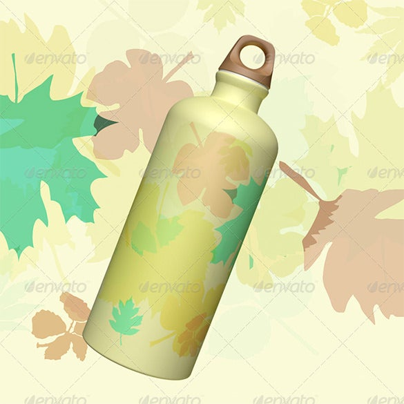 3d object water bottle template
