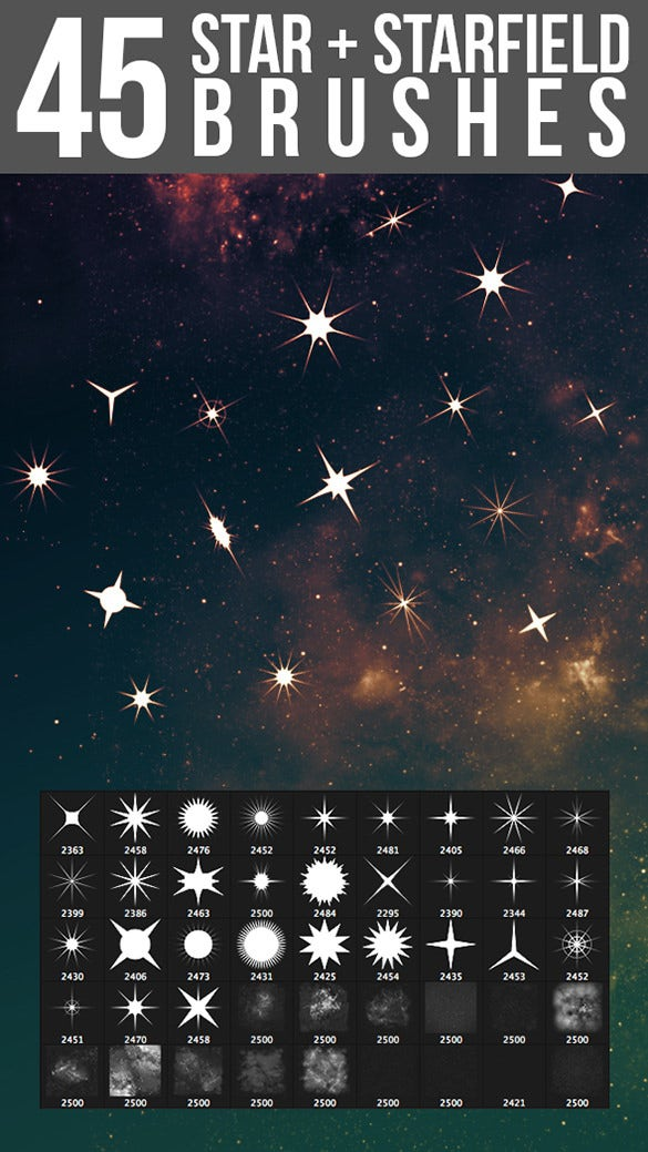 45 photoshop starfield star brushes