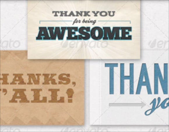 5 pack thank you card