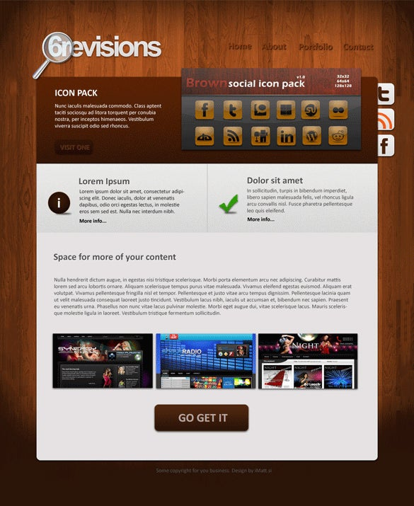 6revisions free psd website template