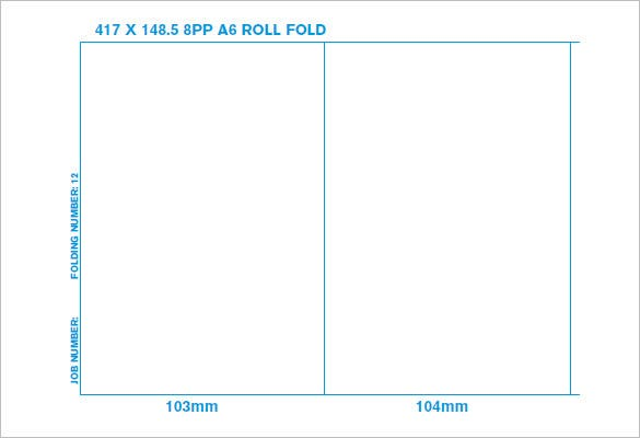 8 page a6 roll folded brochure printing uk