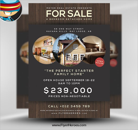 Stylish House For Sale Flyer Templates Designs Free - Sell your house flyer template