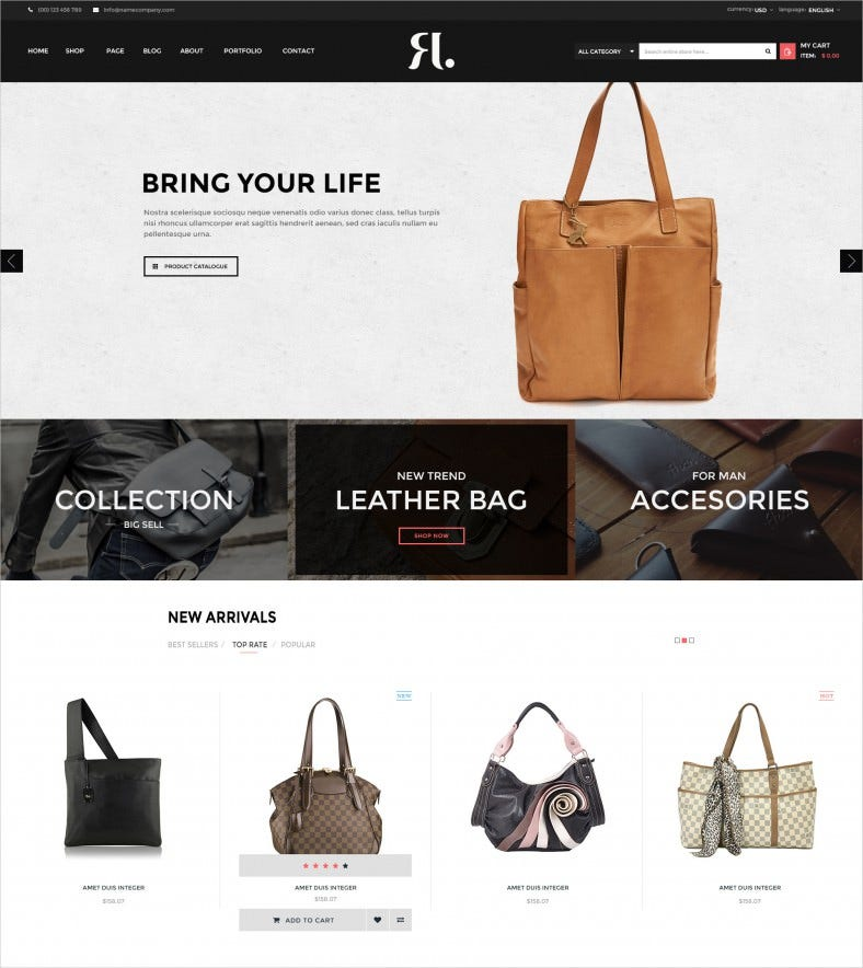 a store ecommerce psd template 788x884