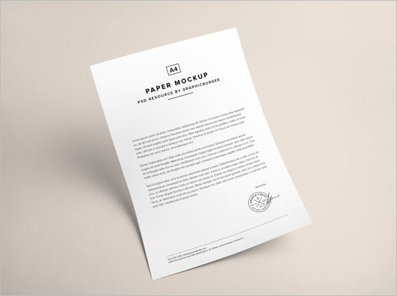 a4 paper psd mockup free download