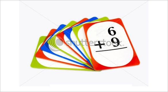 addition flash card for kids
