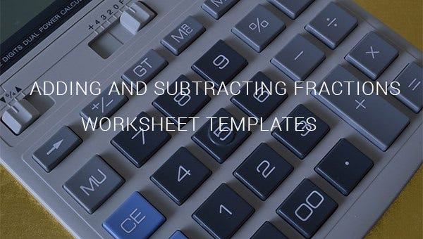 additionandsubtractionfractionworksheettemplates
