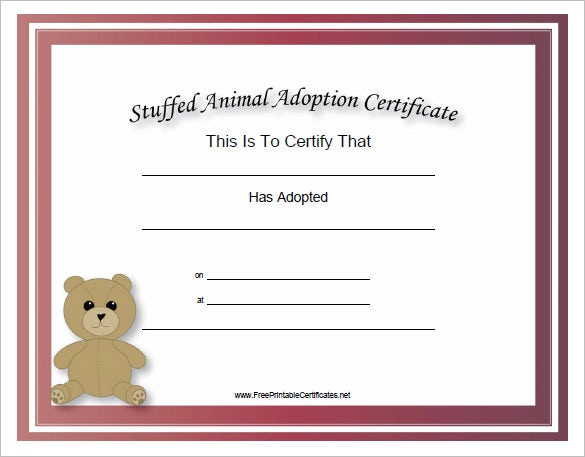adoption certificate template 12 free pdf documents