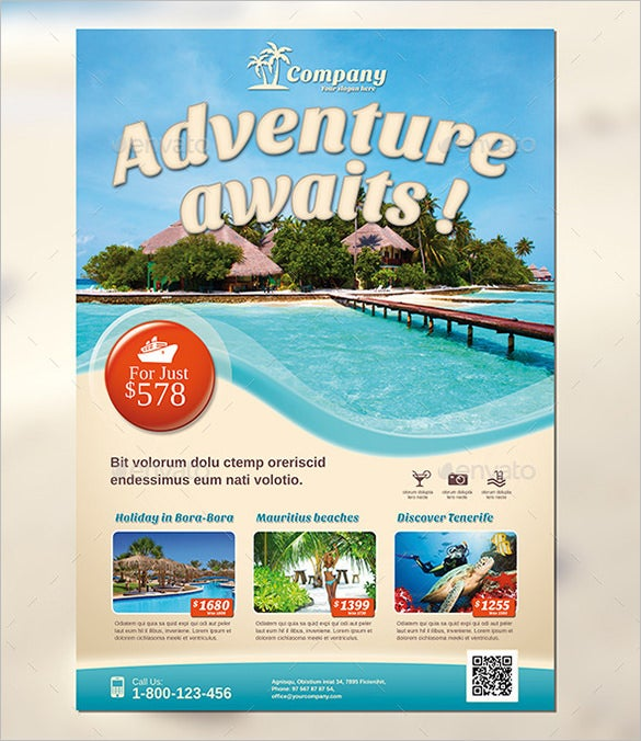 adventure travel flyer template 6