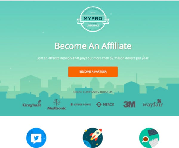 affiliate unbounce landing page template