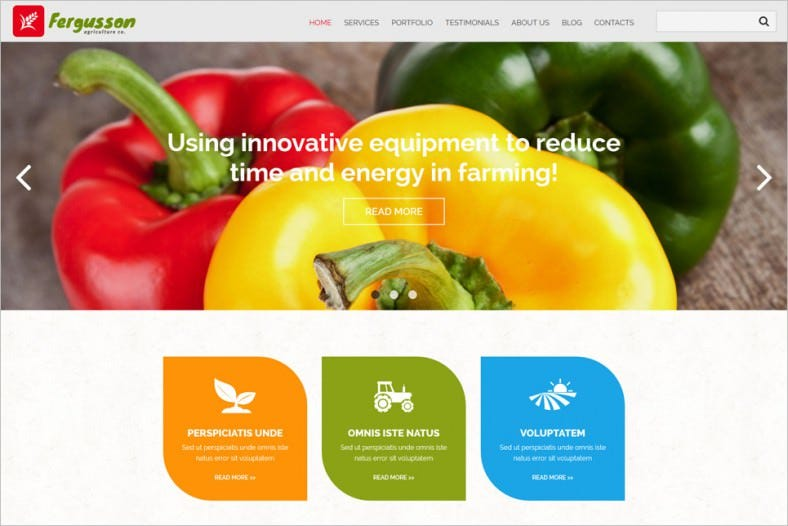 agricultural sector joomla template 788x526