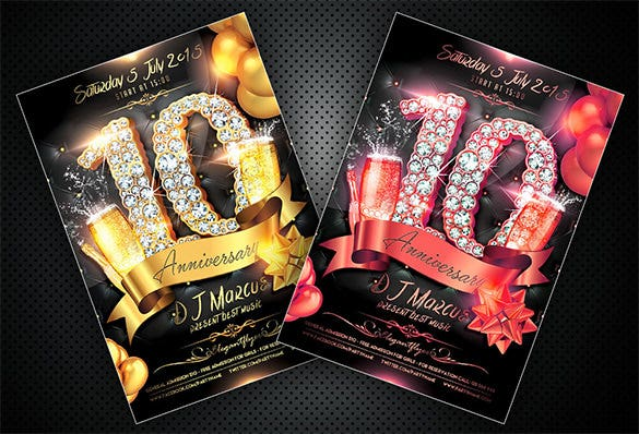 18+ Best Anniversary Flyer Templates - PSD, AI, InDesign ...