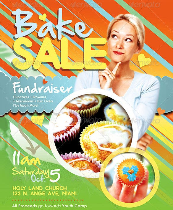amazing bake sale flyer template 6