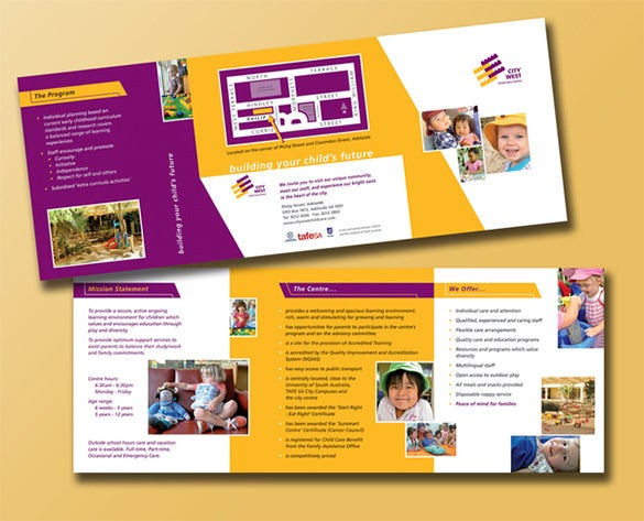 10+ Beautiful Child Care Brochure Templates | Free & Premium Templates