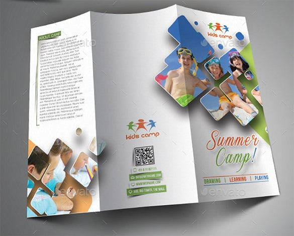 amazing camp brochure template