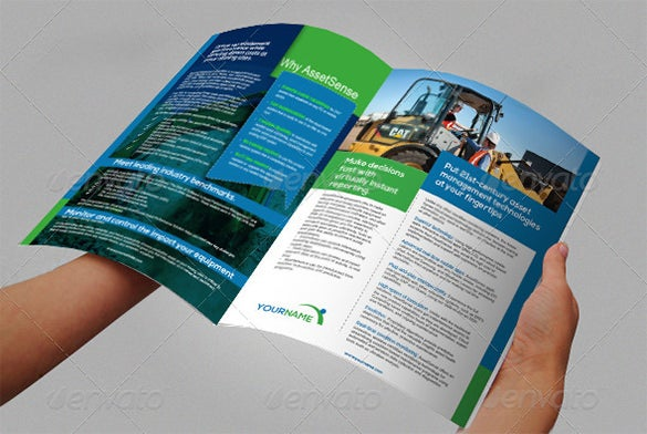 amazing construction company brochure template