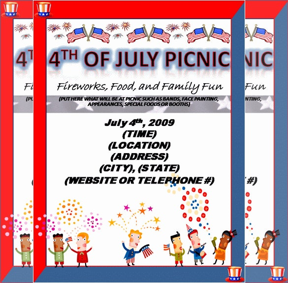 Amazing Design Flyer Template For Picnic