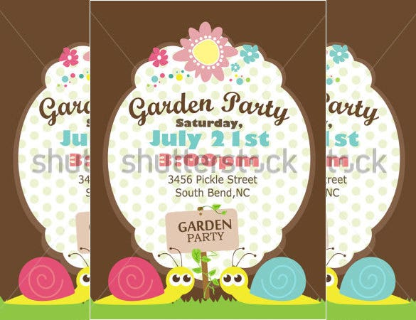 amazing garden party invitation template download