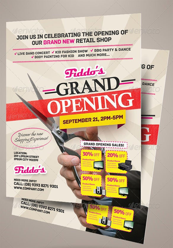 Amazing Grand Opening Flyer Template For Retail Shop 11