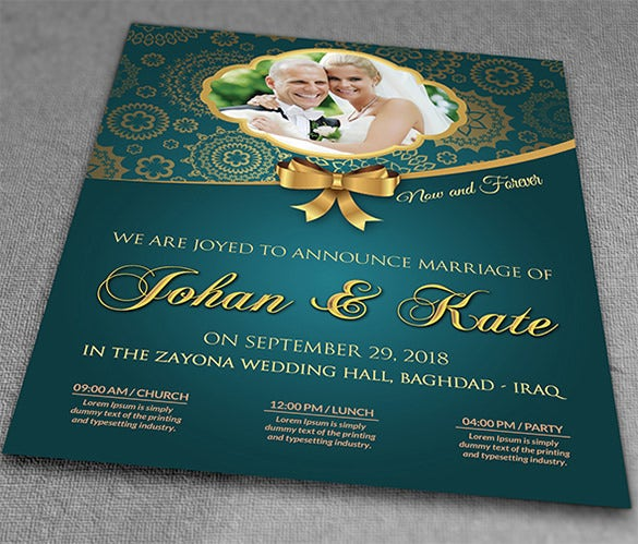 Amazing Wedding Invitation Flyer Template  Flyer Samples Templates