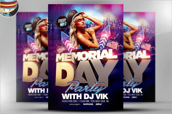 amazing memorial day photoshop flyer download 9