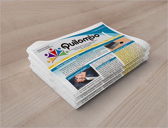 amazing news paper template for free