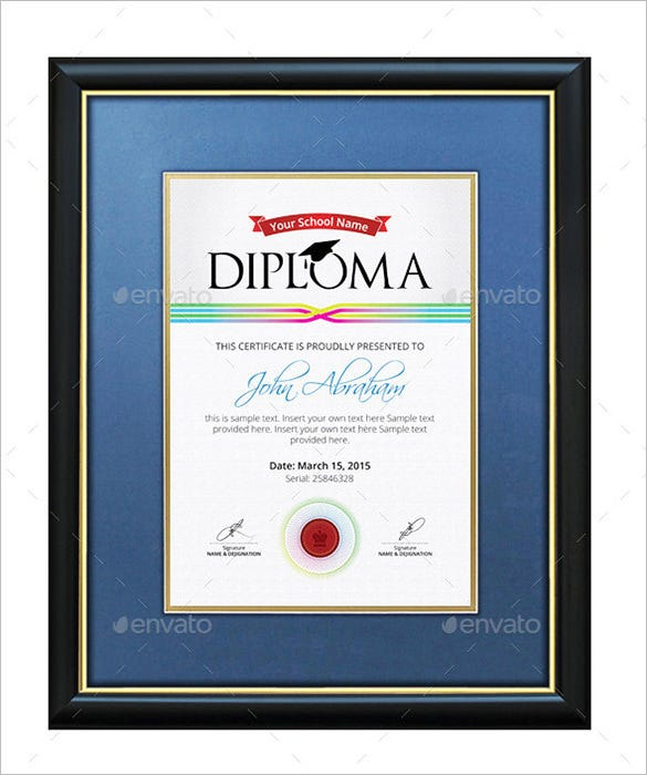 24 best diploma certificate psd templates free premium templates amazing psd diploma certificate template 5 yadclub Choice Image