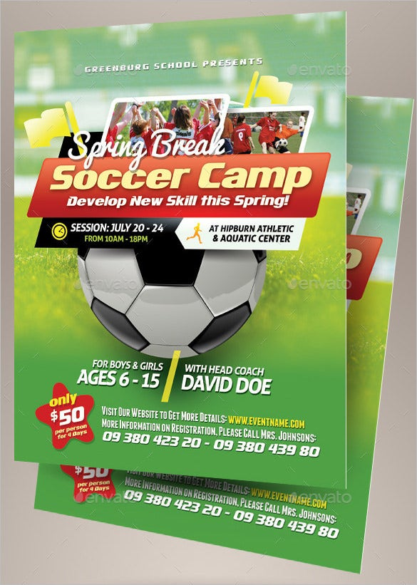 amazing psd flyer for soccer flyer 6