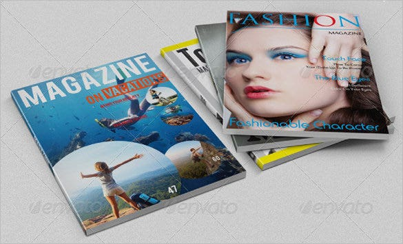 amazing phooshop magazine cover template 6