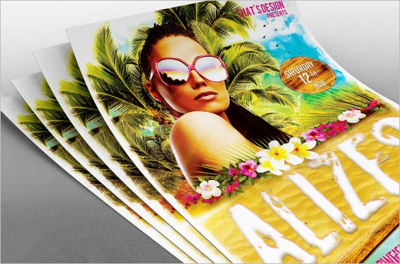 amazing photoshop beach flyer template 9