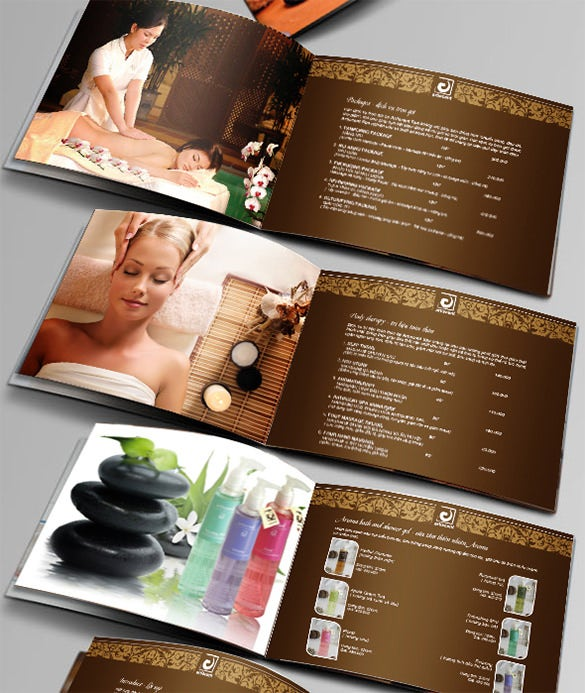 amazing spa brochure template