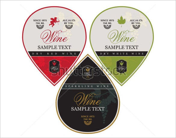 amazing wine label template download