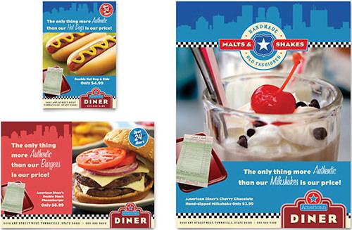 american diner restaurant menu template