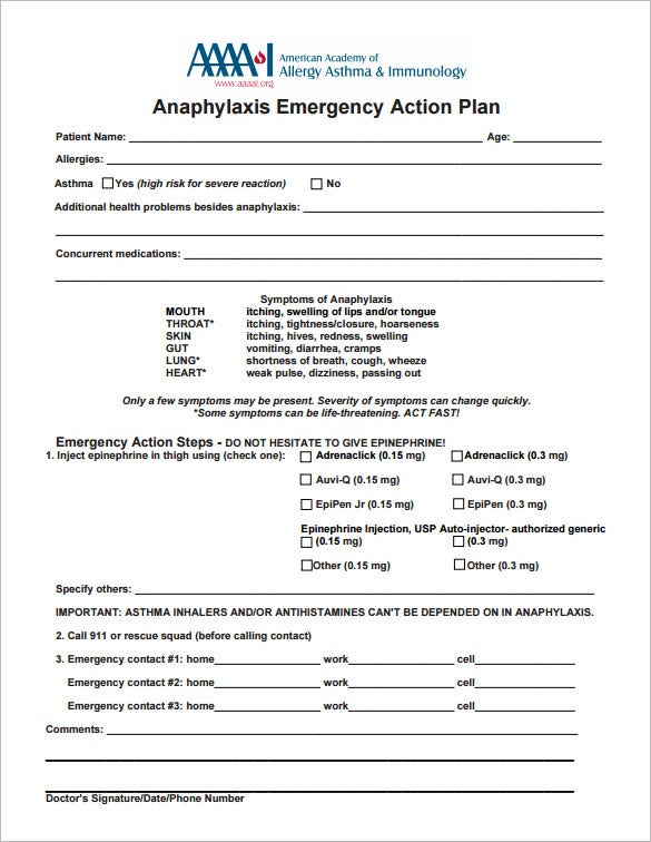 Action Plan Template 110 Free Word Excel PDF Documents – Emergency Action Plan Sample
