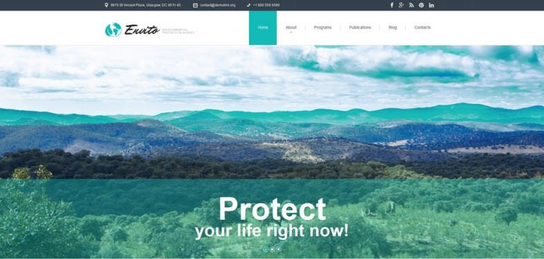 Animated Portfolio Responsive Environmental Joomla Template