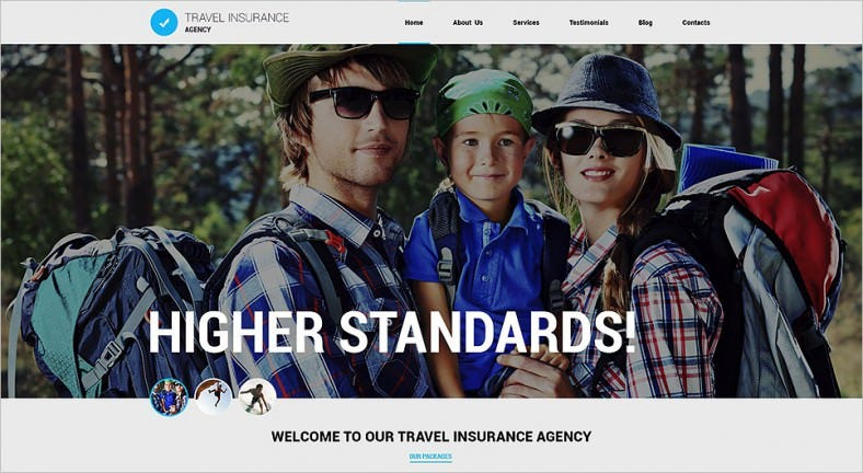 Animated Portfolio Travel Agency Joomla Template