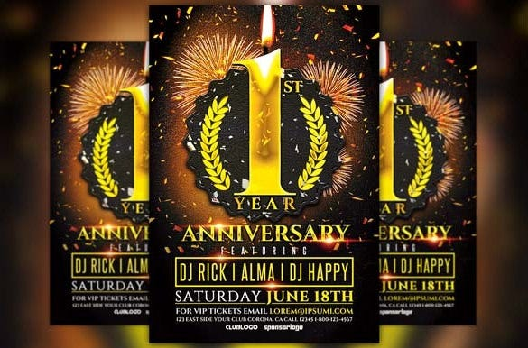 anniversary flyer template download 6
