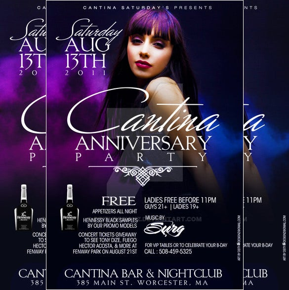anniversary flyer template free download
