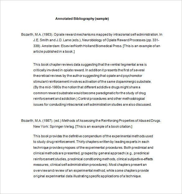 Apa Annotated Bibliography Template Acurnamedia