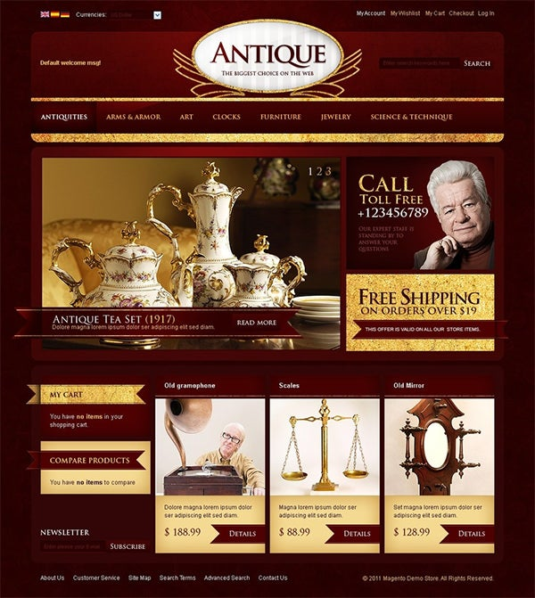 antique store magento theme 5