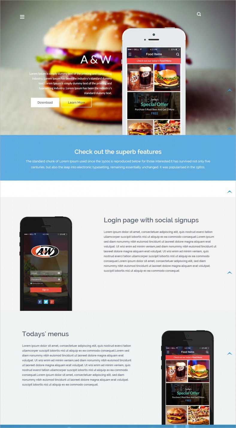 Free app website templates themes free premium templates for Dreamweaver app templates