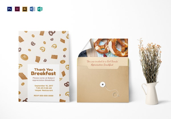 appreciation breakfast invitation template